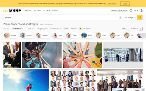 Screenshot of Team Page 123rf.com - People Stock Photos And Images - 123RF - captured Sept. 17, 2019