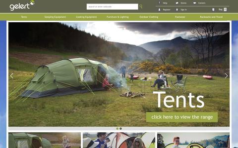 Screenshot of Home Page gelert.com - Gelert > Home - captured Oct. 2, 2014