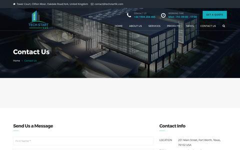 Screenshot of Contact Page techstartllc.com - Tech Start LLC UAE - Techstartllc - captured June 12, 2017