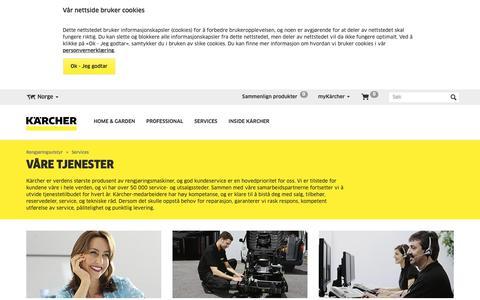 Screenshot of Services Page kaercher.com - Services    Kärcher - captured Oct. 16, 2018