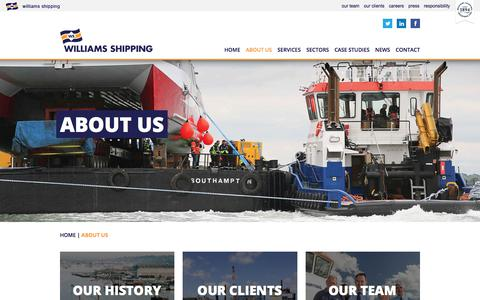 Screenshot of About Page williams-shipping.co.uk - About Us - The Williams Shipping Group | Williams Shipping - captured Nov. 6, 2017