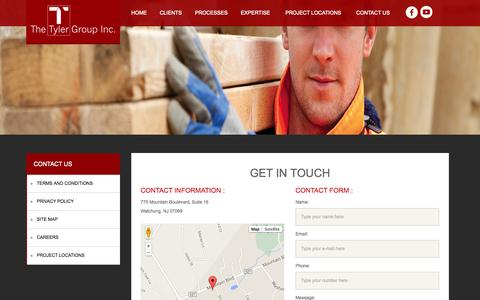 Screenshot of Contact Page tylergroupinc.com - The Tyler Group, INC :: Contact Us - captured Nov. 4, 2014