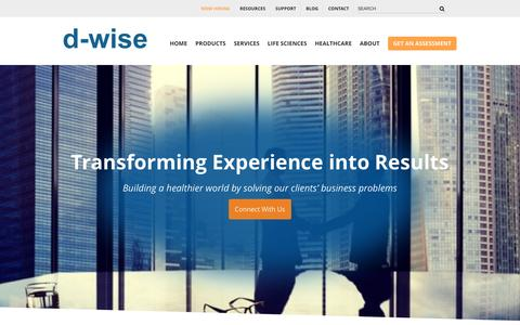 Screenshot of About Page d-wise.com - About Us   d-wise.com - captured Nov. 19, 2016