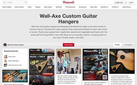 Screenshot of Pinterest Page pinterest.com - Wall-Axe Custom Guitar Hangers on Pinterest - captured Oct. 26, 2014