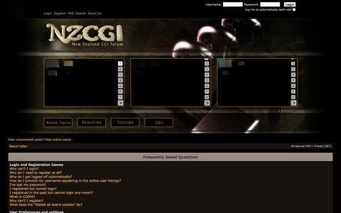 Screenshot of FAQ Page nzcgi.com - NZCGI Forum - captured Nov. 5, 2014