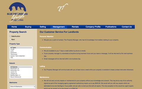 Screenshot of Support Page ralawrence.com.au - RA Lawrence Real Estate  Leura, Blue Mountains - captured Oct. 1, 2014