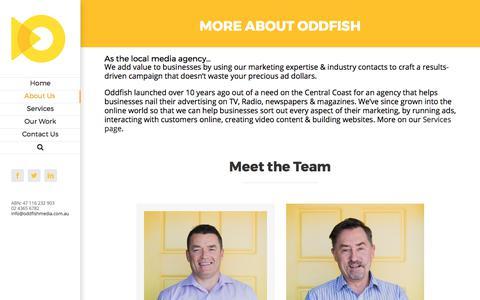 Screenshot of About Page oddfishmedia.com.au - About Us   Oddfish Media - captured Nov. 1, 2017