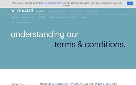 Screenshot of Terms Page randstad.co.uk - terms and conditions | Randstad.co.uk - captured April 30, 2018