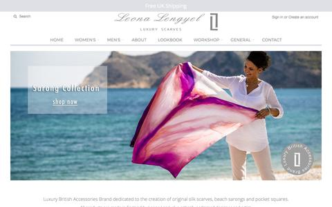Screenshot of Home Page leonalengyel.com - Lengyel presents wide range of luxury gifts for her – leona lengyel - captured July 31, 2017