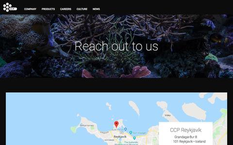 Screenshot of Contact Page ccpgames.com - Contact us - CCP Games - captured Sept. 25, 2018
