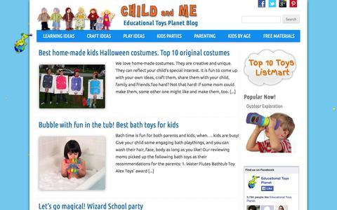 Screenshot of Blog educationaltoysplanet.com - Child and Me   Educational Toys Planet Blog - captured Sept. 23, 2014