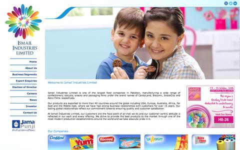 Screenshot of Home Page ismailindustries.com.pk - ::ISMAIL INDUSTRIES LIMITED:: - captured May 6, 2017
