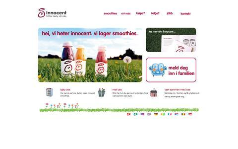 Screenshot of Home Page innocentdrinks.no - innocent smoothies - frukt, frukt og mer frukt, aldri noensinne fra konsentrat - captured Jan. 28, 2015