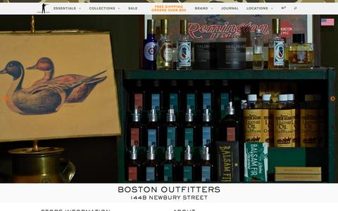 Screenshot of Locations Page ballandbuck.com - Boston Outfitters | Ball and Buck - captured Dec. 29, 2015