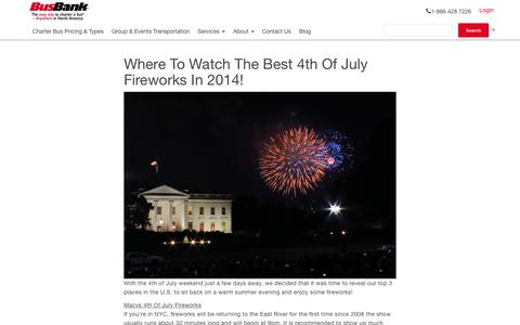 Where To Watch The Best 4th Of July Fireworks In 2014! | BusBank