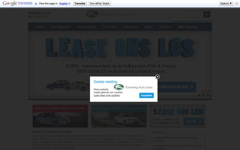 Screenshot of Home Page kamsteegautolease.nl - Kamsteeg Auto Lease Leiden - Home » Kamsteeg Auto Lease - captured Oct. 6, 2014
