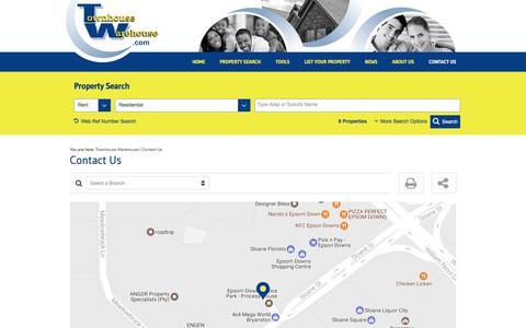 Screenshot of Contact Page townhousewarehouse.com - Contact Us | Townhouse Warehouse - captured Jan. 24, 2017