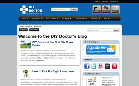 Screenshot of Blog diydoctor.org.uk - The DIY Doctor's Blog | DIY and Home Improvement Hints, Tips, Help and Advice from The DIY Doctor - captured Sept. 23, 2014