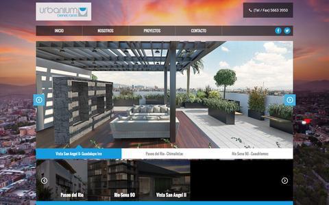 Screenshot of Home Page urbanium.com.mx - Urbanium - captured Feb. 22, 2016