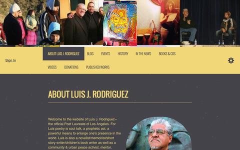 Screenshot of Home Page luisjrodriguez.com - Luis Javier Rodriguez - captured Sept. 27, 2015