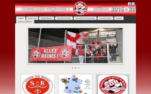 Screenshot of Home Page supporters-stade-de-reims.com - Groupement Officiel des Supporters du Stade de Reims - captured Oct. 9, 2015