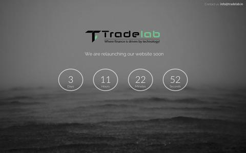 Screenshot of Home Page tradelab.in - Trade Lab | Where Finance is driven by technology! - captured Oct. 6, 2014