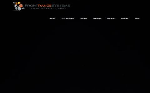 Screenshot of Home Page frontrangesystems.com - Front Range Systems - Home - captured Jan. 8, 2016