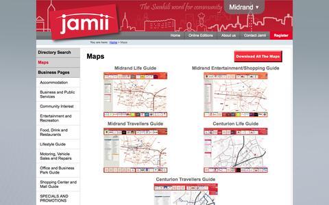 Screenshot of Maps & Directions Page jamii.co.za - Maps - captured Oct. 6, 2014