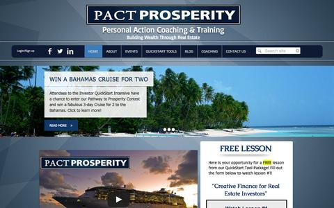 Screenshot of Products Page pactprosperity.com - PACT Prosperity - captured Sept. 26, 2014