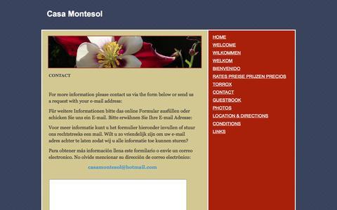 Screenshot of Contact Page webs.com - CONTACT - Casa Montesol - captured Sept. 13, 2014