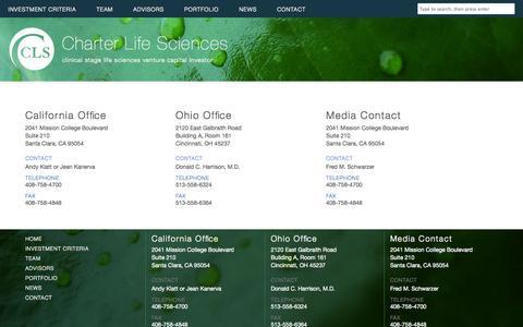 Screenshot of Contact Page clsvc.com - contact - captured Nov. 1, 2014