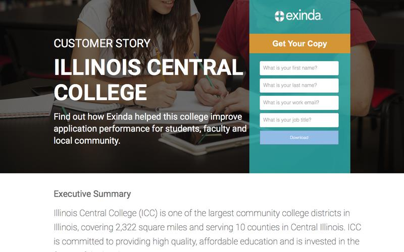 Customer Success | Illinois Central College | Exinda