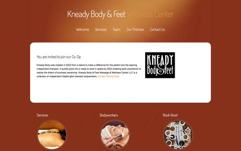 Screenshot of Signup Page kneadybody.com - Join Our Team «  Kneady Body & Feet - captured Jan. 9, 2016