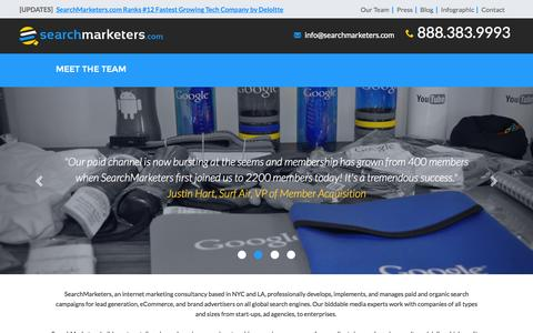 Screenshot of Team Page searchmarketers.com - Our Team - captured Nov. 18, 2015