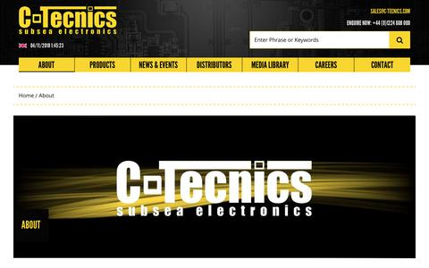 Screenshot of About Page c-tecnics.com - About – C-Tecnics – Subsea Electronics - captured Nov. 4, 2018