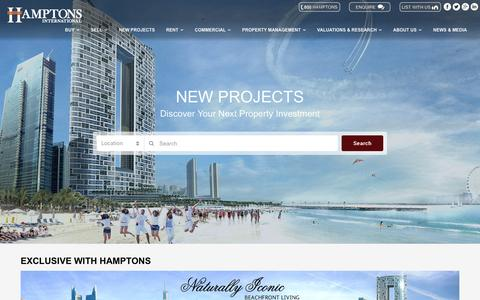 Screenshot of Developers Page hamptons.ae - Home - Developers Section - captured Oct. 22, 2016
