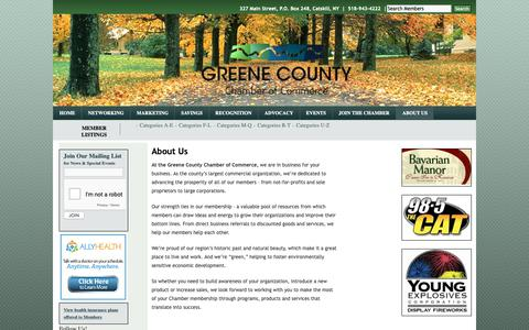Screenshot of About Page greenecountychamber.com - About Us | Greene County Chamber of Commerce - captured Nov. 1, 2018
