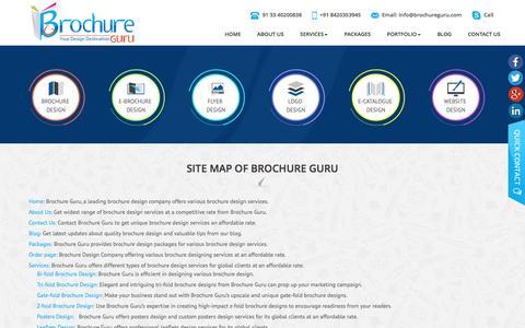 Site Map of Brochure Guru