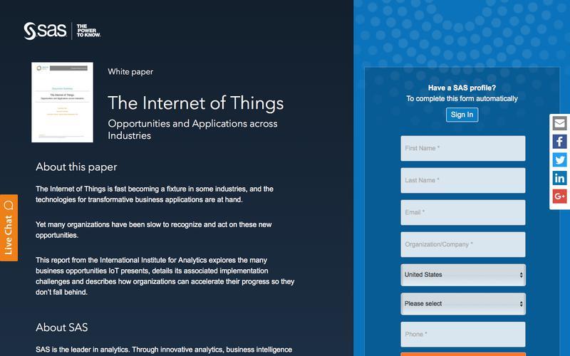 The Internet of Things | SAS
