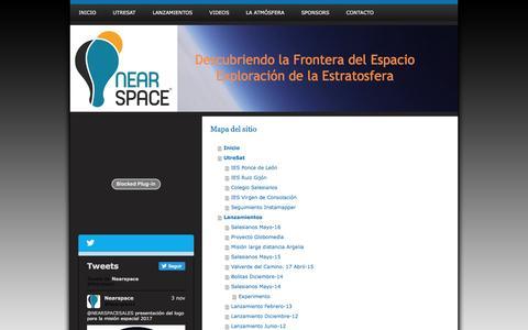 Screenshot of Site Map Page nearspace.es - Investigación y Exploración de la Estratosfera - NearSpace. Descubriendo la frontera del Espacio - captured Dec. 6, 2016