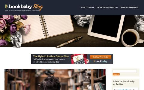 Screenshot of Blog bookbaby.com - Self Publishing And Book Promotion For Authors | BookBaby Blog - captured Jan. 6, 2016