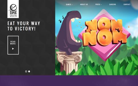 Screenshot of Home Page eipix.com - Eipix Entertainment   Creating Worlds - captured Nov. 2, 2016