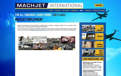 Screenshot of Jobs Page machjetinternational.com.au - Machjet International | Employment-Aircraft-Aviation-Machjet - captured Sept. 30, 2014