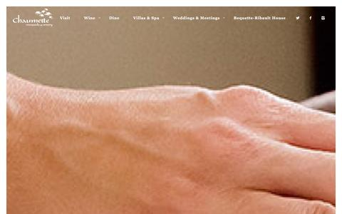 Screenshot of Menu Page chaumette.com - Spa Menu | Chaumette - captured Jan. 27, 2016