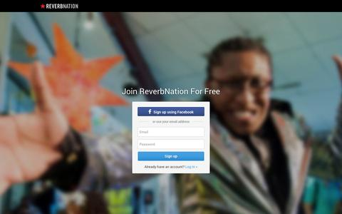 Screenshot of Signup Page reverbnation.com - ReverbNation Sign Up - captured Oct. 22, 2014