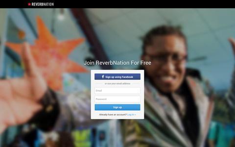 Screenshot of Signup Page reverbnation.com - ReverbNation Sign Up - captured Oct. 22, 2014