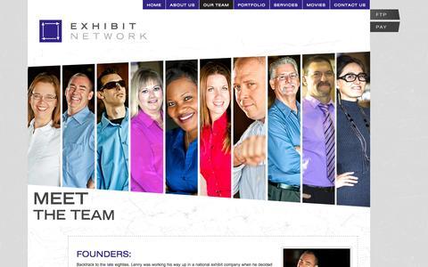 Screenshot of Team Page exhibithouston.com - OUR Exhibit Designing, Building, Managing, Servicing TEAM - captured Oct. 3, 2014