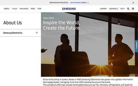 Screenshot of About Page samsung.com - Vision 2020   Samsung Electronics   About Us   Samsung Australia - captured Oct. 5, 2017