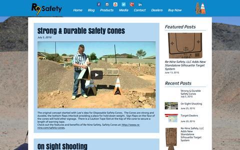 Screenshot of Blog re-nine.com - Re-Nine Safety LLC Blog - captured Dec. 6, 2016