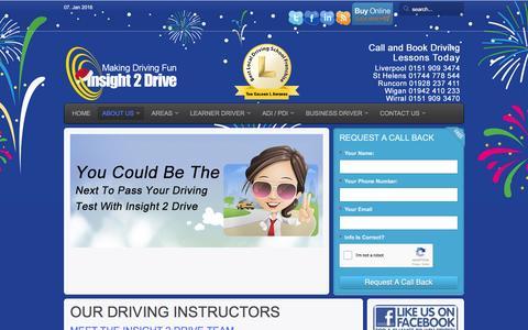 Screenshot of Team Page insight2drive.co.uk - Our Driving Instructors | Driving Instructors - captured Jan. 8, 2016